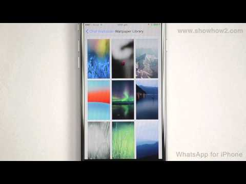 WhatsApp For iPhone - How To Set A Wallpaper