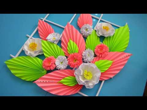 DIY. Simple Home Decor. Wall Decoration. Hanging Flower. Paper Craft Ideas #10