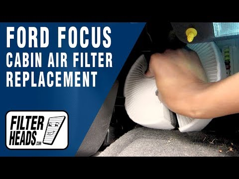 How to Replace Cabin Air Filter 2012 Ford Focus