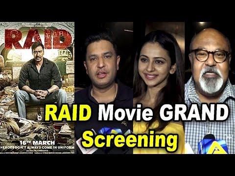 RAID Movie GRAND Screening   Ajay Devgn, Kajol, Ileana D'Cruz, Rakul Preet,