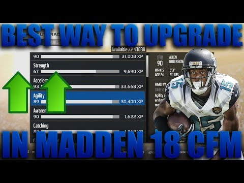 The Best Way to Upgrade/Use Xp in Madden 18 Connected Franchise! Madden 18 Franchise Tips