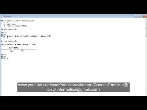 SQL: Default Constraint