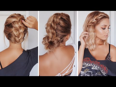 3 Easy Hairstyles for Short/Medium Length Hair | Ashley Bloomfield