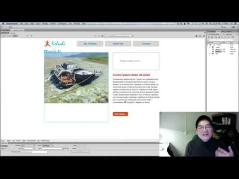 Dreamweaver CC how to replace images and setup navigation links