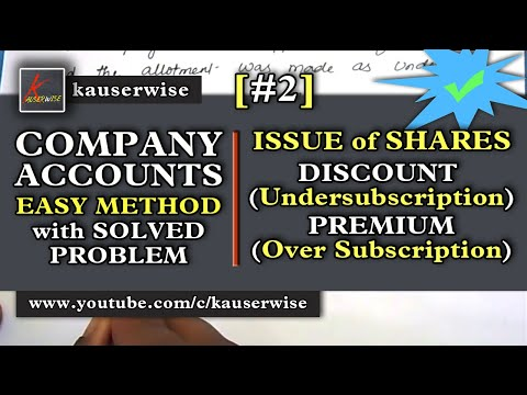 Company Accounts - Issue of Shares #2 [Discount & Premium - Prorata - Calls in arrears]
