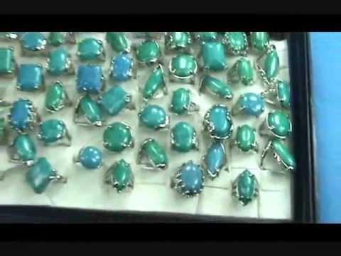 genuine turquoise semi-precious stone jewelry rings wholesalesarong.com