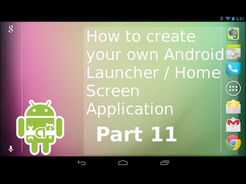 SERIES 11; How to Create your own Android Launcher | Widgets Continued