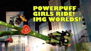 Powerpuff Girls Spinning Ride Onride POV IMG Worlds Dubai UAE