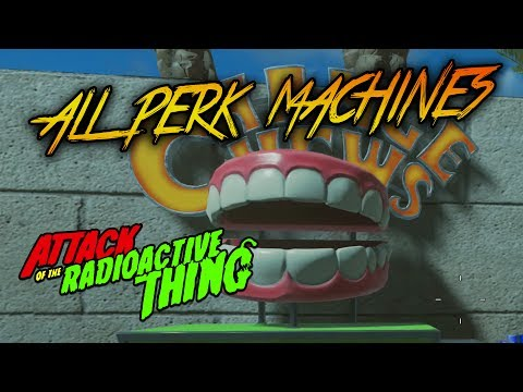 ATTACK OF THE RADIOACTIVE THING - ALL PERK MACHINE LOCATIONS WALKTHROUGH (Infinite Warfare Zombies)