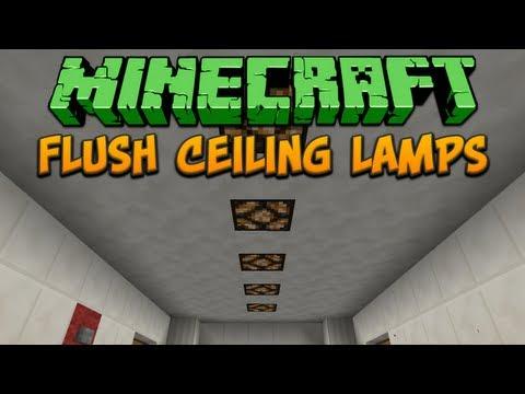 Minecraft: Flush Ceiling Lamps Tutorial