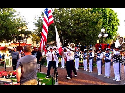 Disneyland celebrates Veterans of all Armed Forces every day during the Flag Retreat.