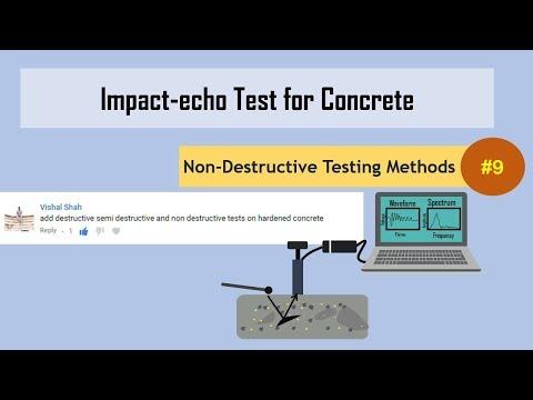 Impact echo Test for Concrete || Non-Destructive Testing Methods (NDT) #9