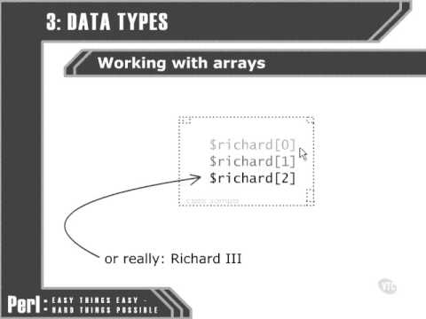 VTC Player   Perl Fundamentals, Working with arrays
