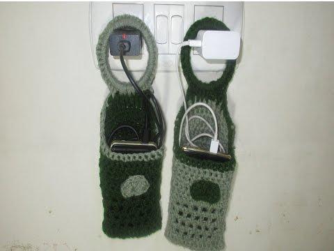 Making Mobile charger holder using crochet.[Hindi]