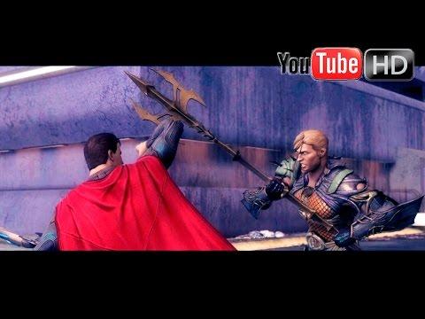 Injustice: Gods Among Us 【PS4】 - ✪ SuperMan Vs Aquaman ✪   Story Mode & Cinematics   HD