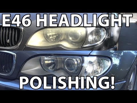 BMW E46 Headlight Polishing