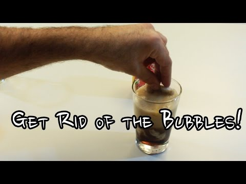 How to Get rid of bubbles in a Coke - Step by Step
