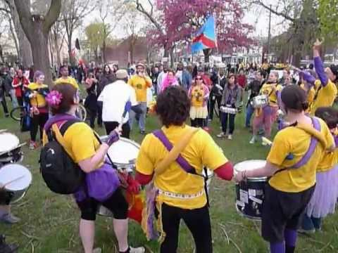 Rythms of Resistance Playing at Toronto's May Day Celebrations