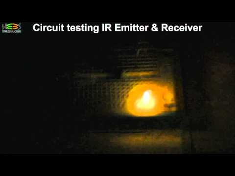 Testing ir emitter and receiver