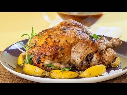 Lemon Rosemary Roasted Chicken - How to Truss and Roast a Chicken