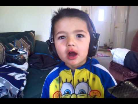 Haha bubby with headphones on