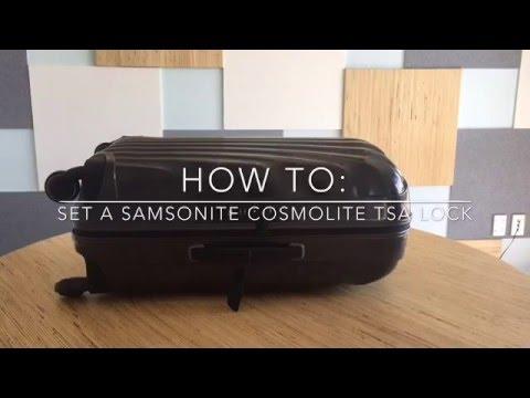 How To set A Samsonite Cosmolite Lock