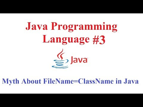 Java Programming Language #3 (Myth about Class name is same as the file name of Java)