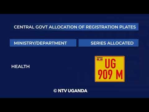 Uganda government registration plates