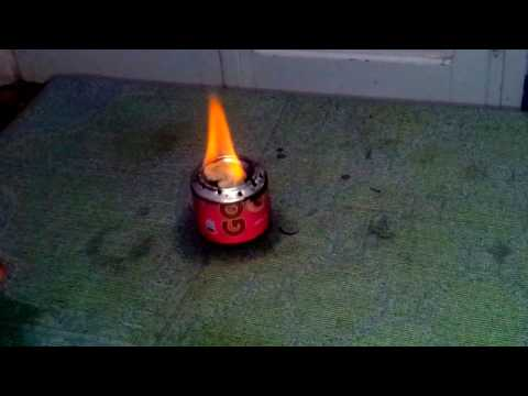 How to Light A Soda Can Stove  Pilot Light