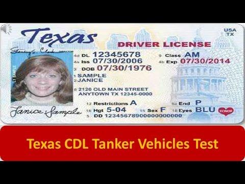 Texas CDL Tanker Vehicles Test