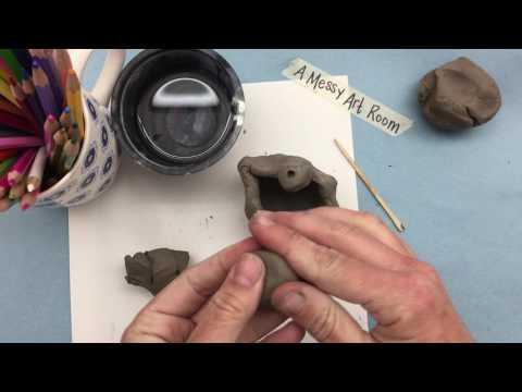 A Messy Art Room: Pinch Pot Monster (Part I)
