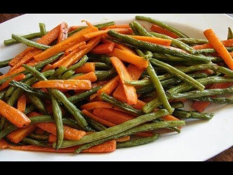 Roasted green beans and carrots recipe