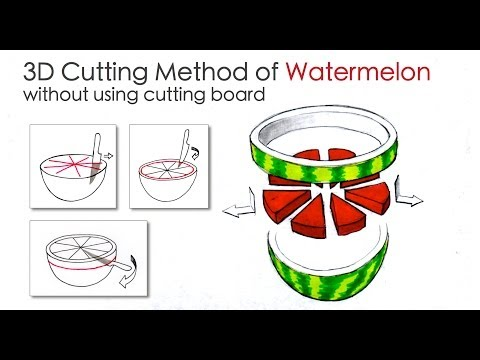 3D Cutting Method of Watermelon