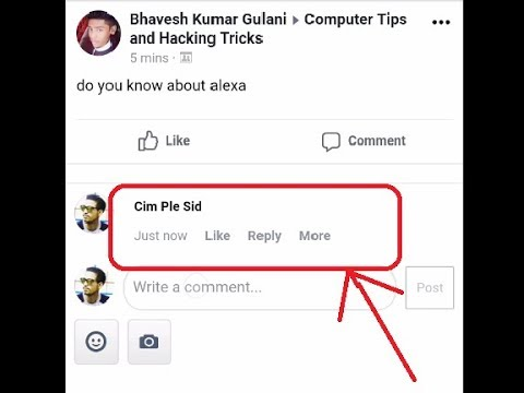 How to make  a blank comment in facebook