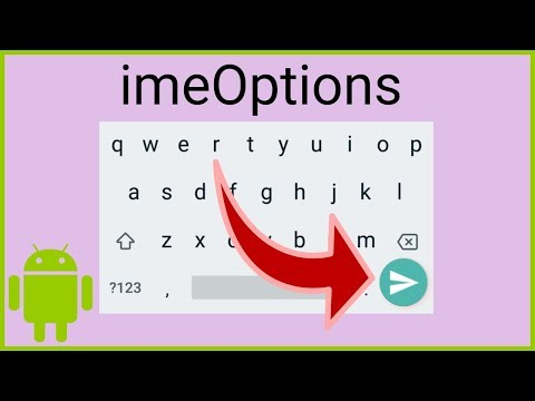 How to Change the Input Method Action - Android Studio Tutorial