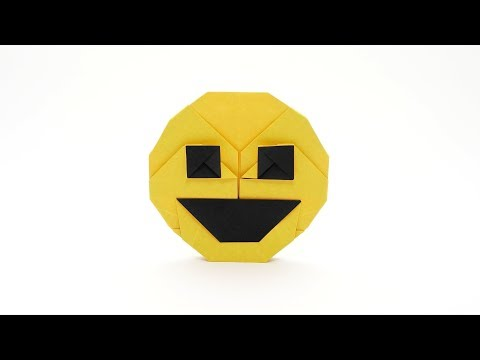 ORIGAMI SMILING FACE EMOJI 😃 (Jo Nakashima)