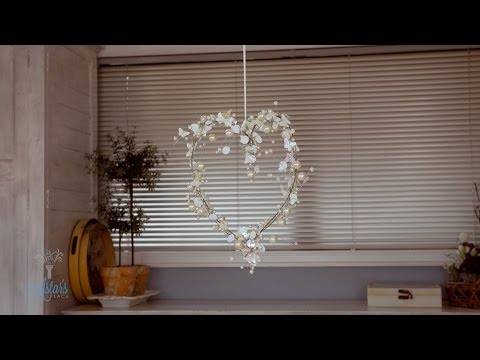How to make a Bead Garland Heart