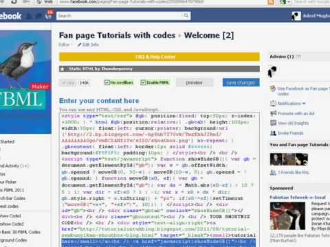 How To add Shoutmix or chat box on Facebook fan page Tutorials