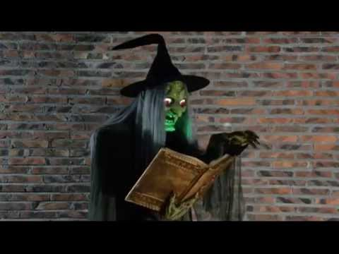 MR124250 Spell-Casting Animated Halloween Witch Prop