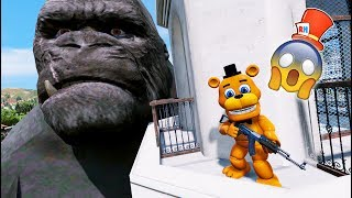 ADVENTURE ANIMATRONICS vs EVIL KING KONG! (GTA 5 Mods For Kids FNAF RedHatter)