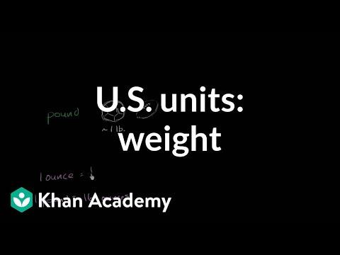 U.S. customary units: weight | 4th grade | Khan Academy