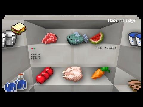 ✔ Minecraft: How to make a Modern Fridge
