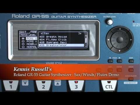 Roland GR-55 Guitar Synthesizer : Sax / Winds / Flute Sounds