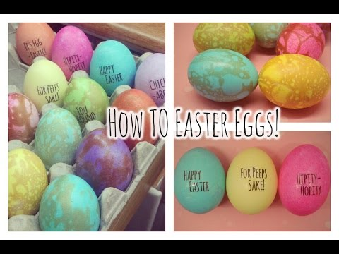 How To: Water Marbled Eggs & Cute Easter Sayings Eggs!