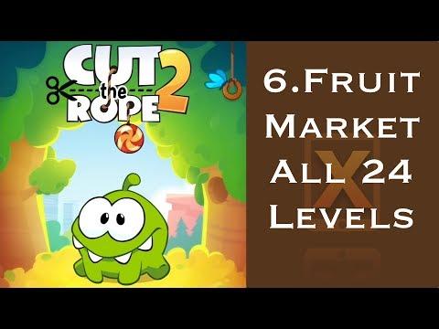 Cut the Rope 2 Walkthrough - All 24 Fruit Market 3 Stars + Medal