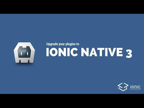 Upgrade to Ionic Native 3