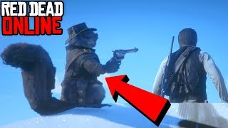 Red Dead Redemption 2 - Funny Moments #4 SQUIRREL