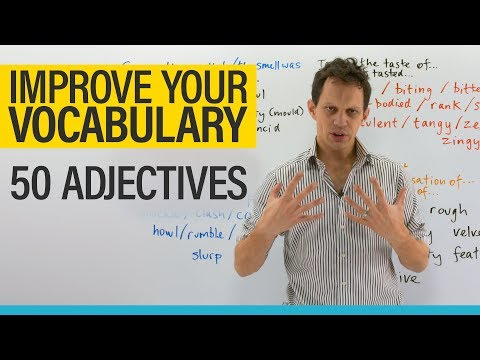Improve your Vocabulary: 50 adjectives to describe what you see, hear, feel, smell, and taste