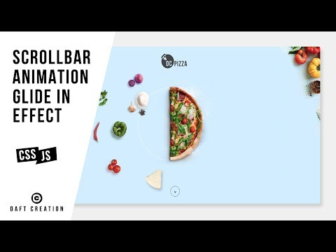 Scrollbar Animation | Glide In Effect | CSS - JQUERY Tutorial