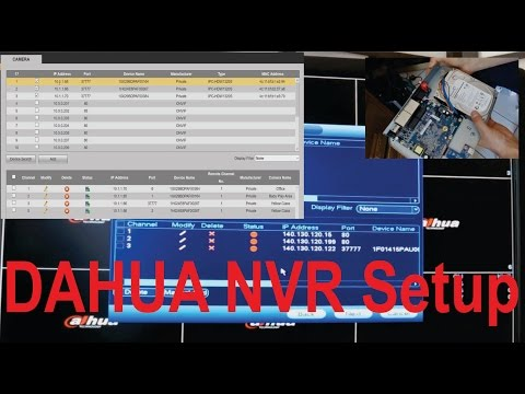Dahua NVR setup - step by step